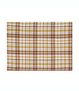 Mantel individual de algodón con diseño a cuadros