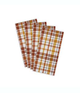 Servilletas de algodón con diseño a cuadros, Set de 4