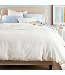 Set de funda para duvet king NestWell Linen color blanco