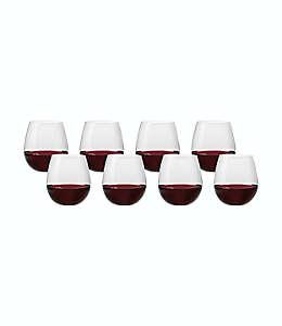 Copas sin tallo de cristal para vino tinto o blanco Simply Essential™, Set de 8