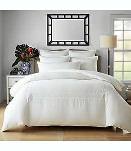 Set de funda de algodón para duvet matrimonial/queen Wamsutta® Atlantis color blanco brillante, 3 piezas