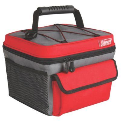 Bolsa térmica vermelha e cinza- 10 latas