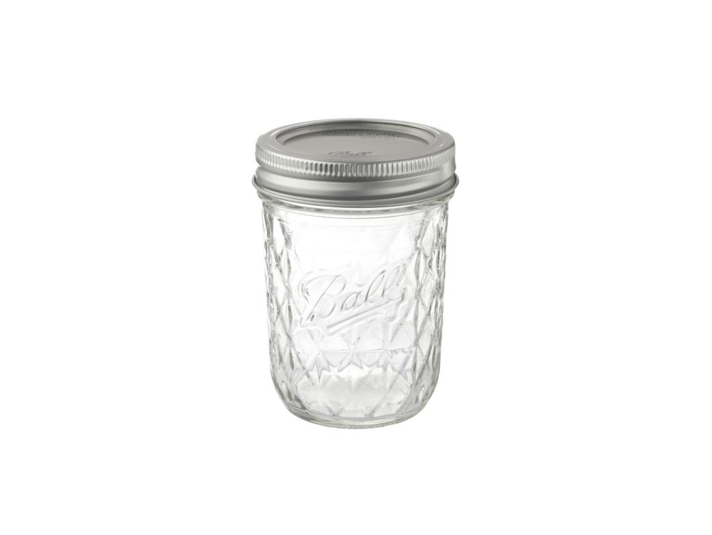 Ball® 8oz Quilted Crystal Jelly Jars