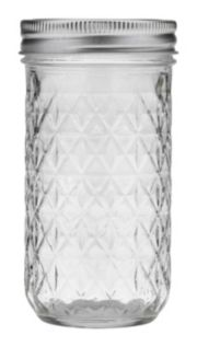 Ball® 12oz Quilted Crystal Regular Mouth Jar