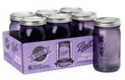 Ball® Wide Mouth Purple Heritage Jar 32oz 6 Pack