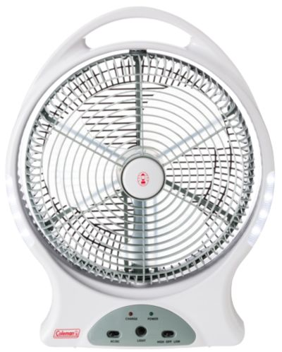 """12"""" Rechargeable Fan With LED"""