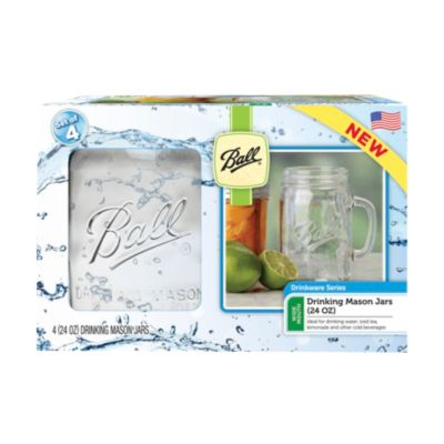 Ball® Drinking Mug 24oz 4 Pack Wide Mouth