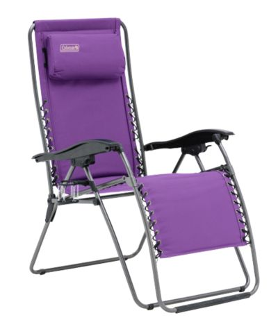 Chair Flat Fold Layback Lounger (Purple)