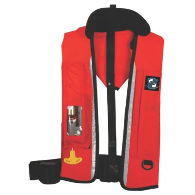 1470 Ultra Commercial Automatic/Manual Inflatable Life Jacket with Back Flap