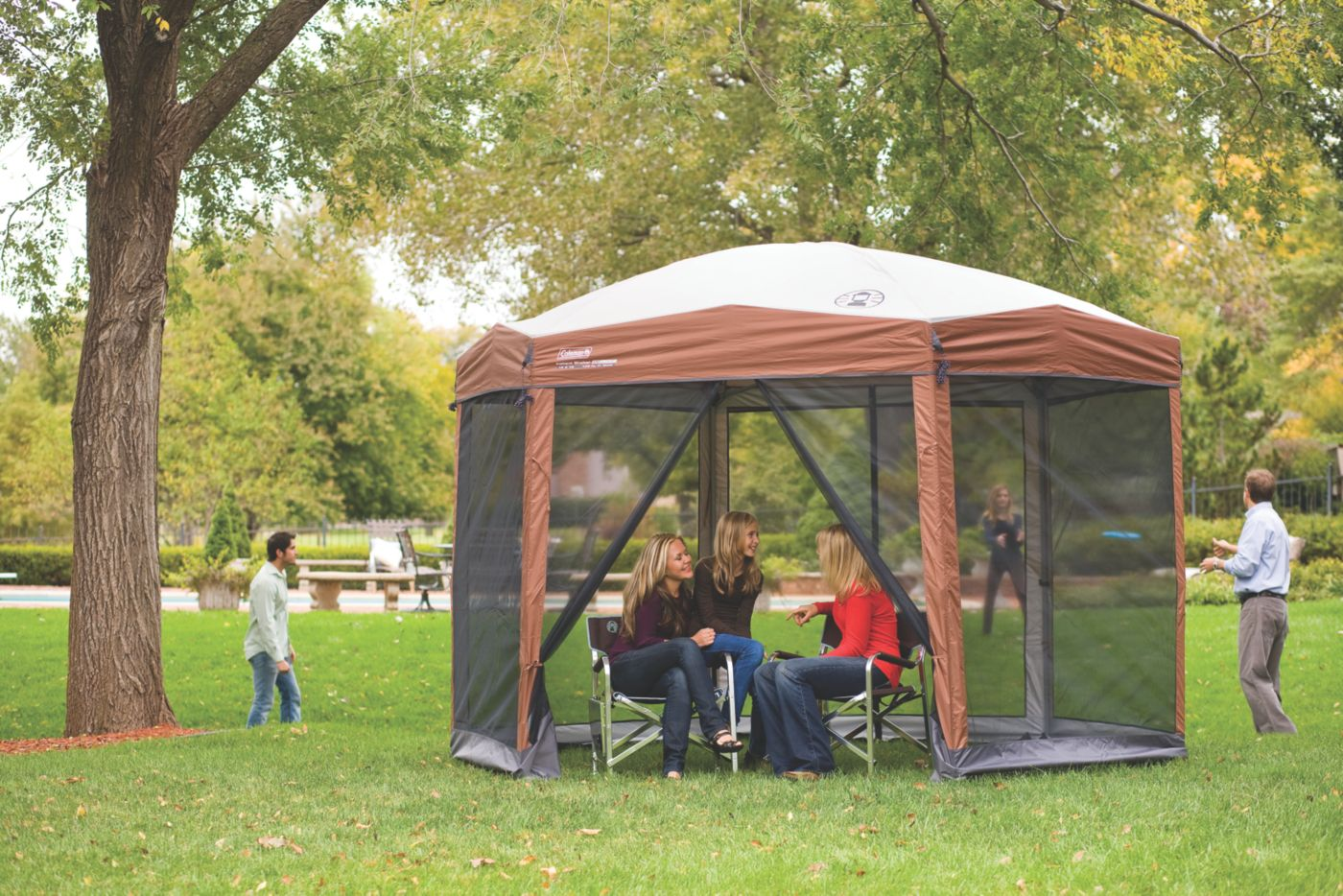 ... Back Home™ 12 x 10 Instant Screenhouse ...  sc 1 st  Coleman & Screened Canopy | Instant Canopy | Coleman