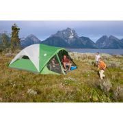 Green and white instant setup dome tent image number 4