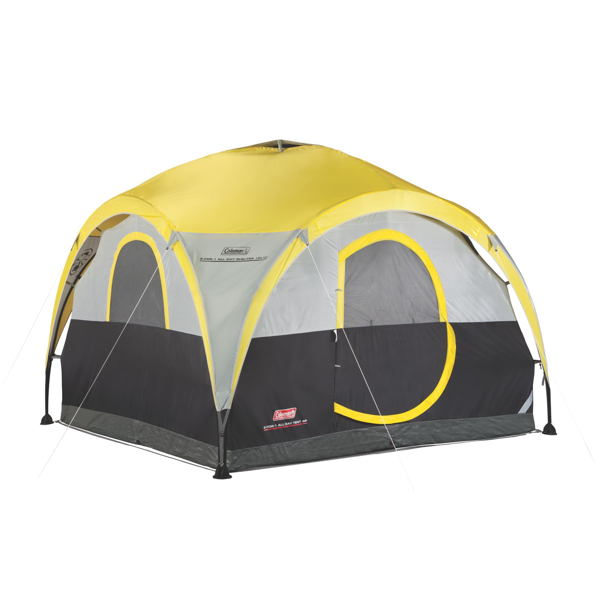 2 For 1 All Day 4 Person Shelter   Tent. 4 Person Dome Tents   Coleman Tents   Coleman