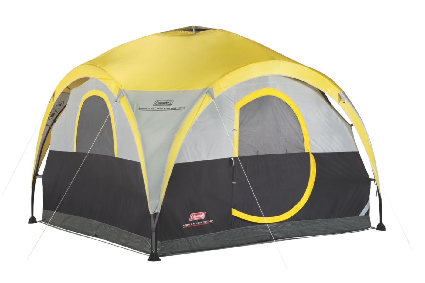 2-For-1 All Day 4-Person Shelter u0026 Tent  sc 1 st  Coleman & 4 Person Dome Tents | Coleman Tents | Coleman