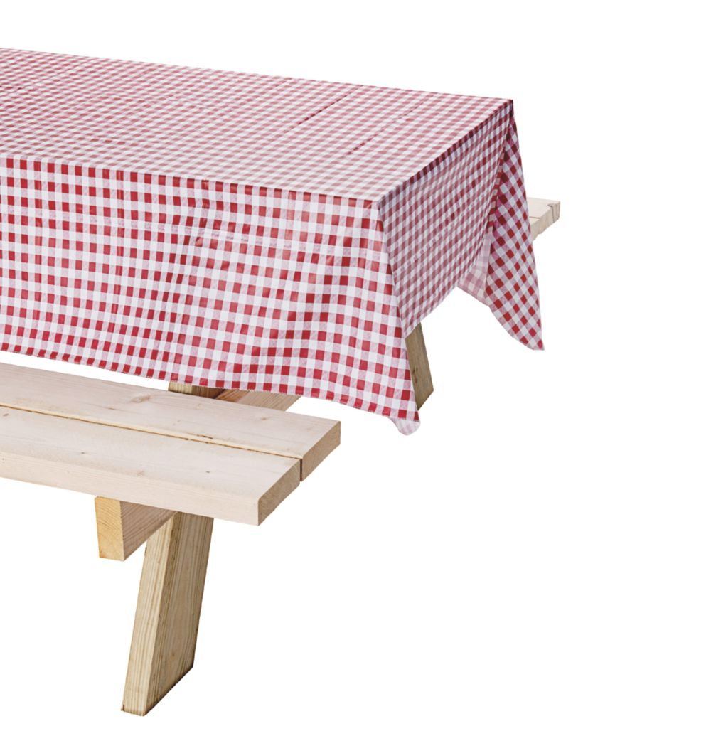 Vinyl Table Cloth, Red