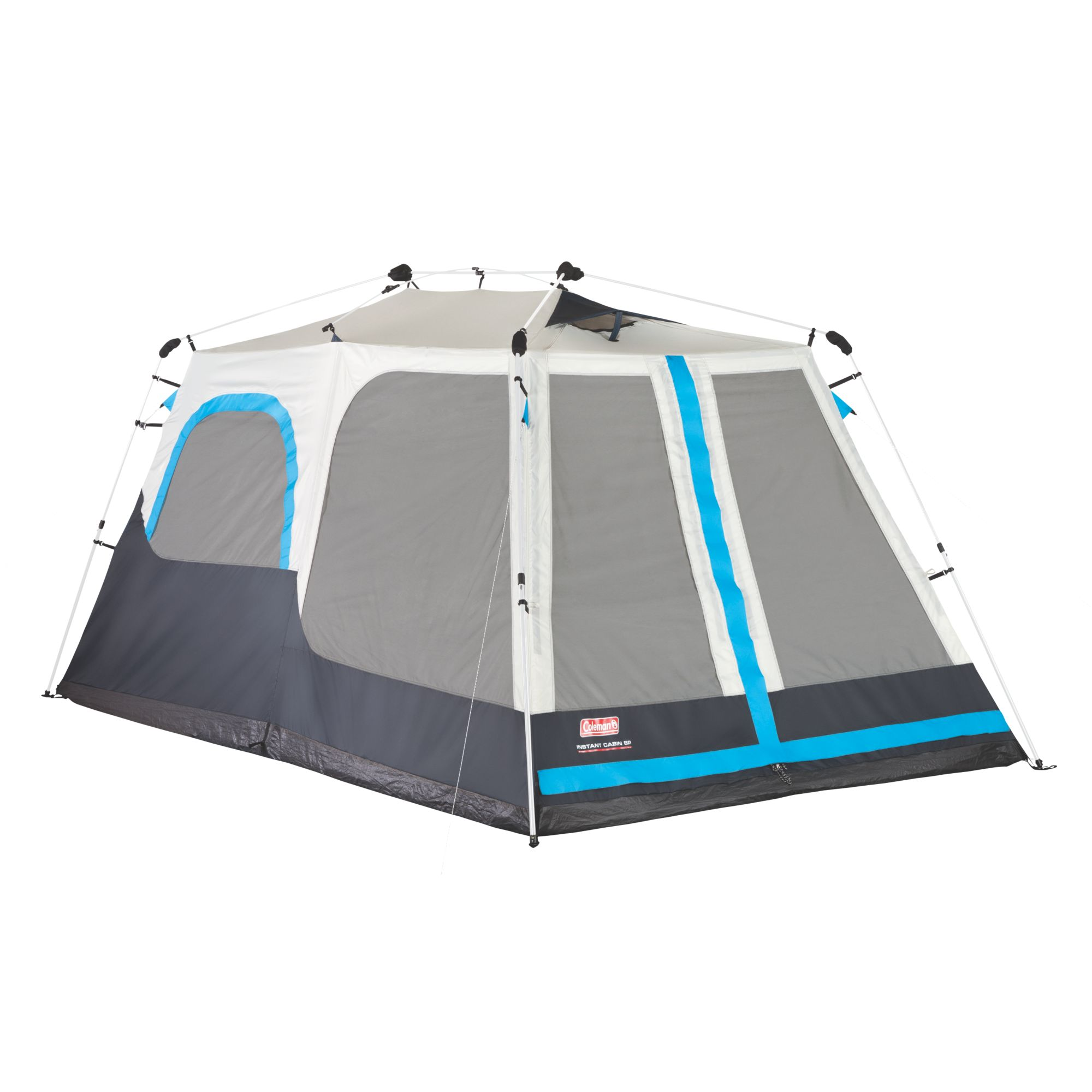 Instant tents for camping coleman tents coleman 8 person instant cabin with mini fly sciox Image collections