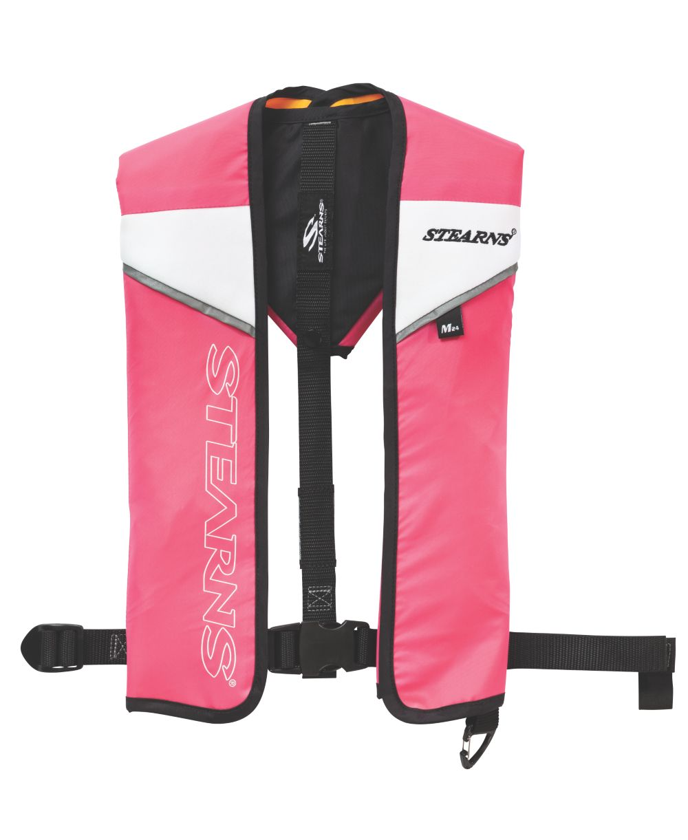 Adult Nylon 24 Gram Manual Inflate Vest-Pink/Black Universal