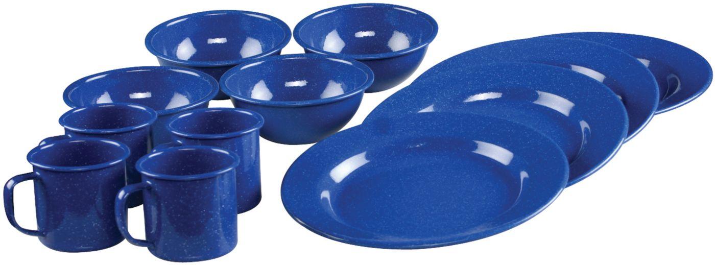 12-Piece Enamel Dinnerware Set  sc 1 st  Coleman & 12-Piece Enamel Dinnerware Set | Coleman