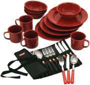 24-Piece Enamel Dinnerware Set