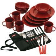 24-Piece Enamel Dinnerware Set image 1