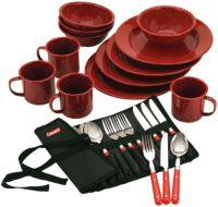 24-Piece Enamel Dinnerware Set
