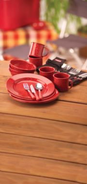 24-Piece Enamel Dinnerware Set image 2