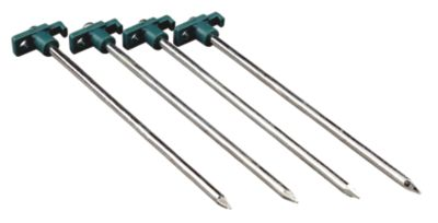 10-In. Steel Tent Stakes