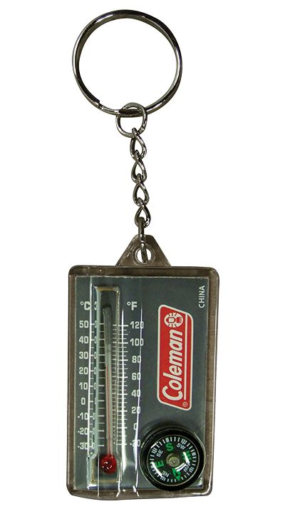 Zipper-Pull Thermometer and Compass