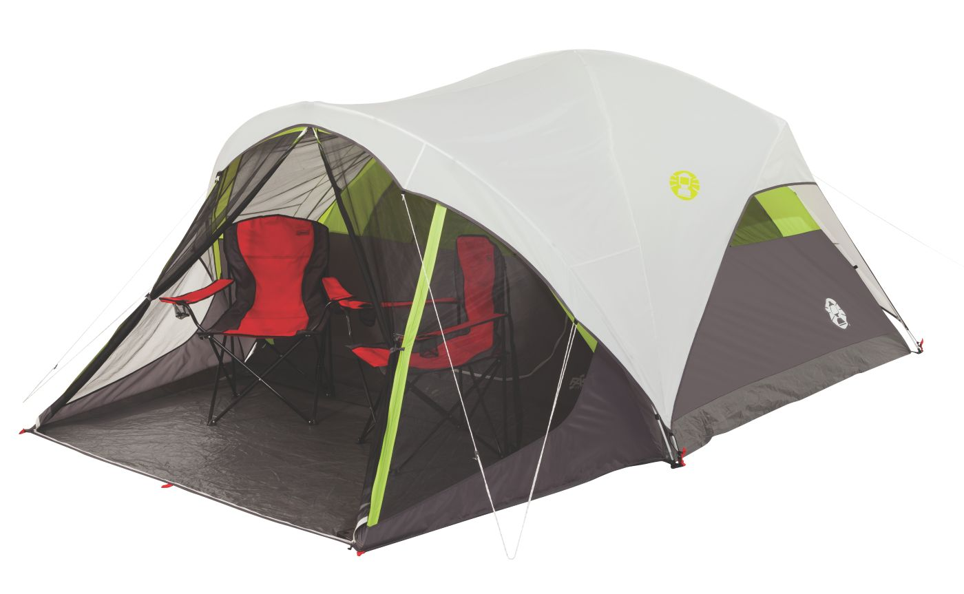 Steel Creek™ Fast Pitch™ 6-Person Dome Tent with Screen Room  sc 1 st  Coleman : quick pitch tents - memphite.com