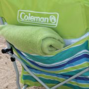 pocket on folding chair at beach image number 4