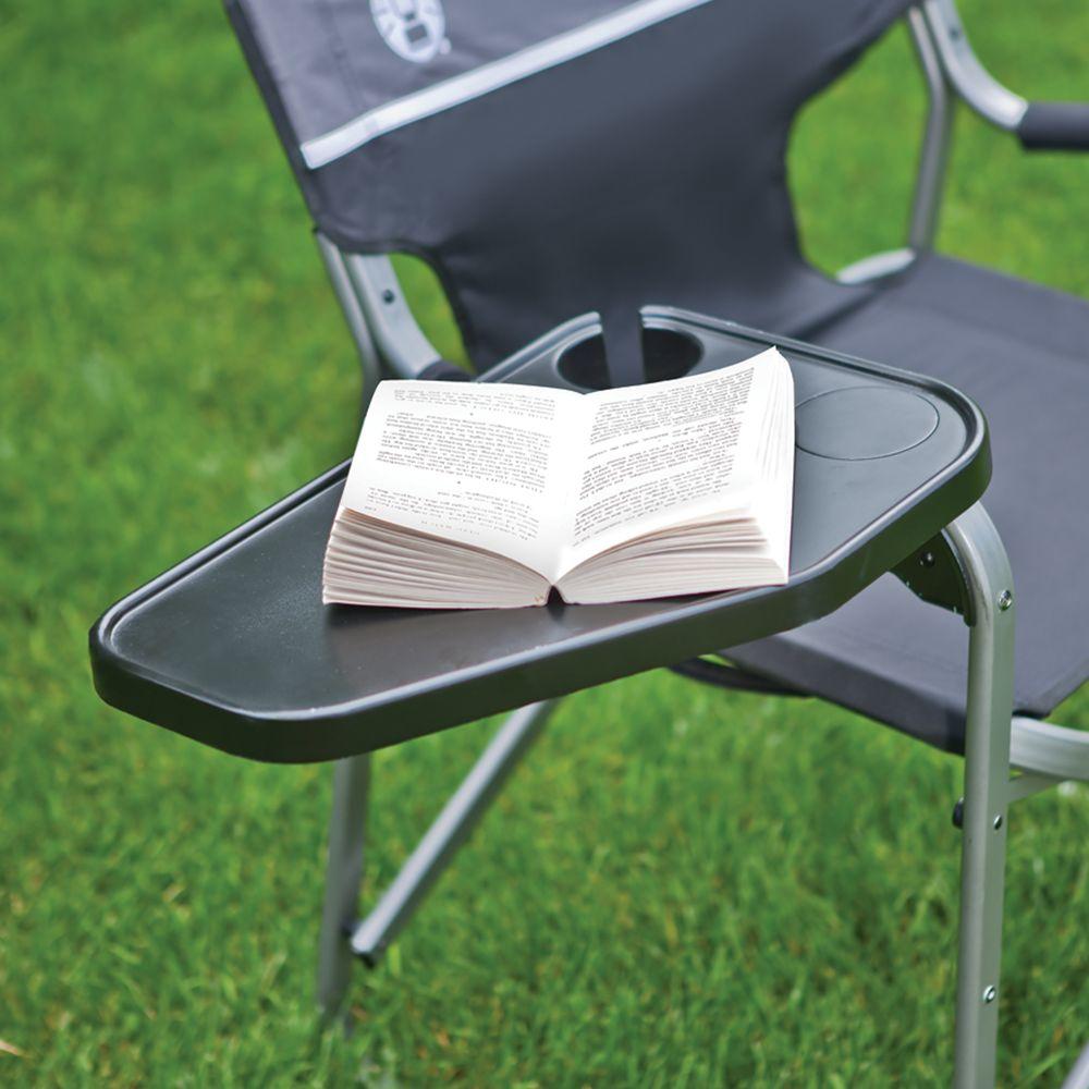 Tremendous Aluminum Deck Chair With Swivel Table Coleman Creativecarmelina Interior Chair Design Creativecarmelinacom