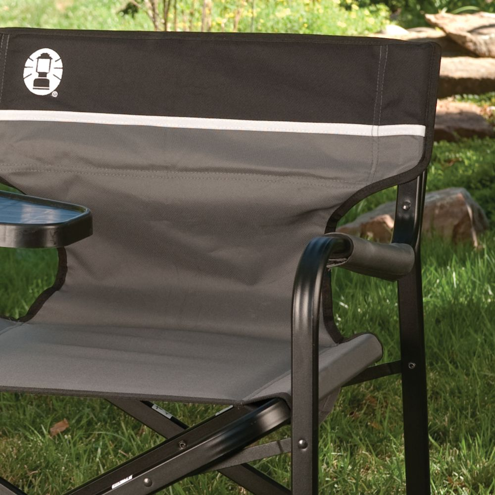 Strange Aluminum Deck Chair With Swivel Table Coleman Creativecarmelina Interior Chair Design Creativecarmelinacom