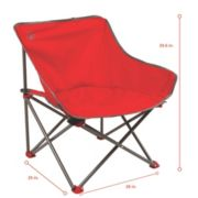 Kickback Chair Red