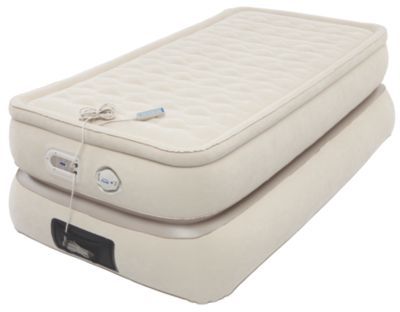 24-Inch Raised Pillowtop Air Mattress in Tan, Twin