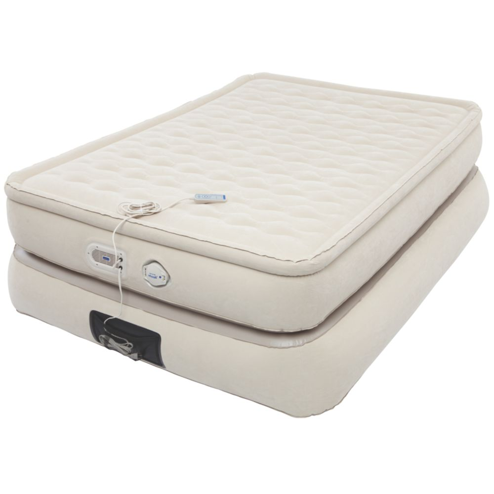 24-Inch Raised Pillowtop Air Mattress in Tan, Full
