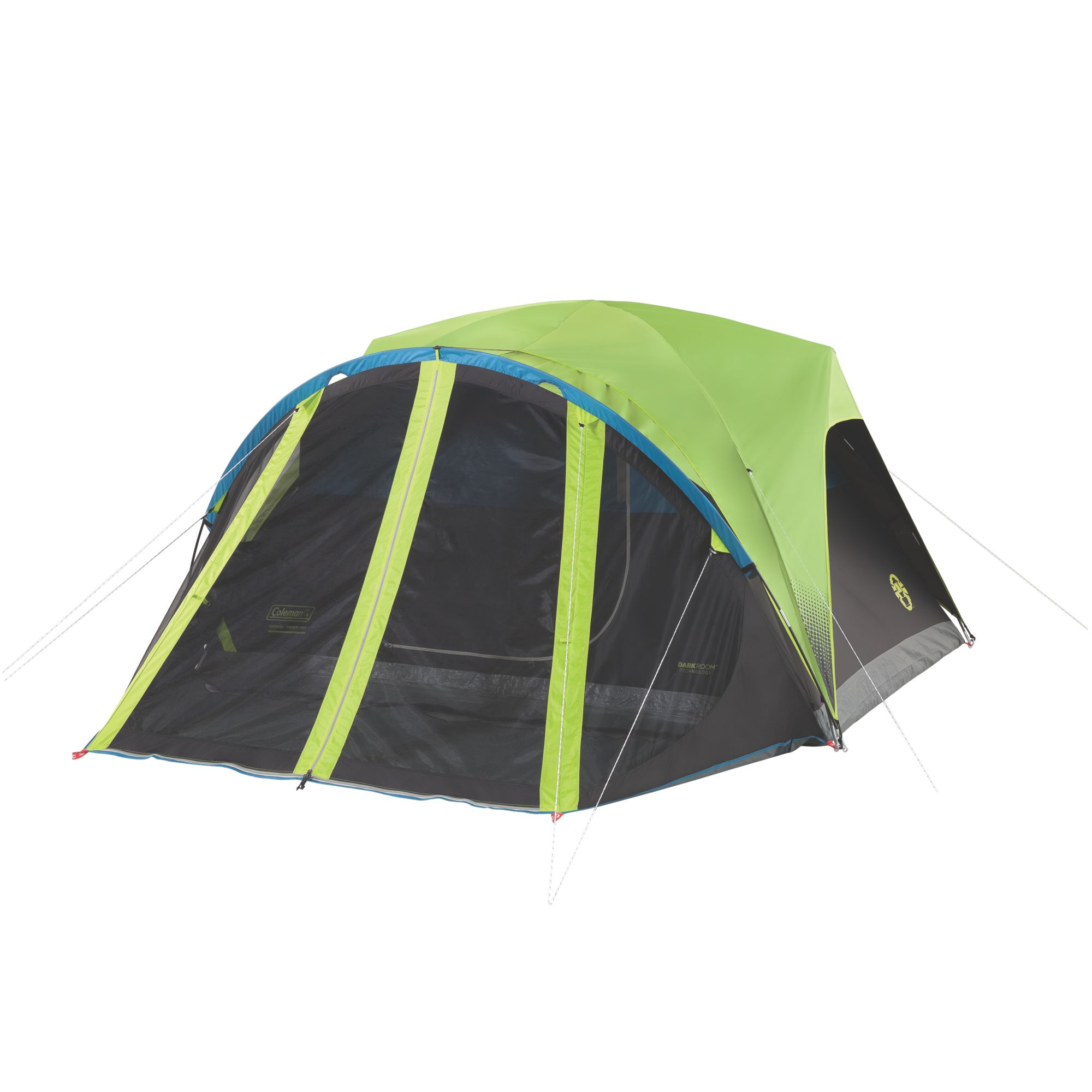 carlsbad 4 person dark room tent with screen room coleman
