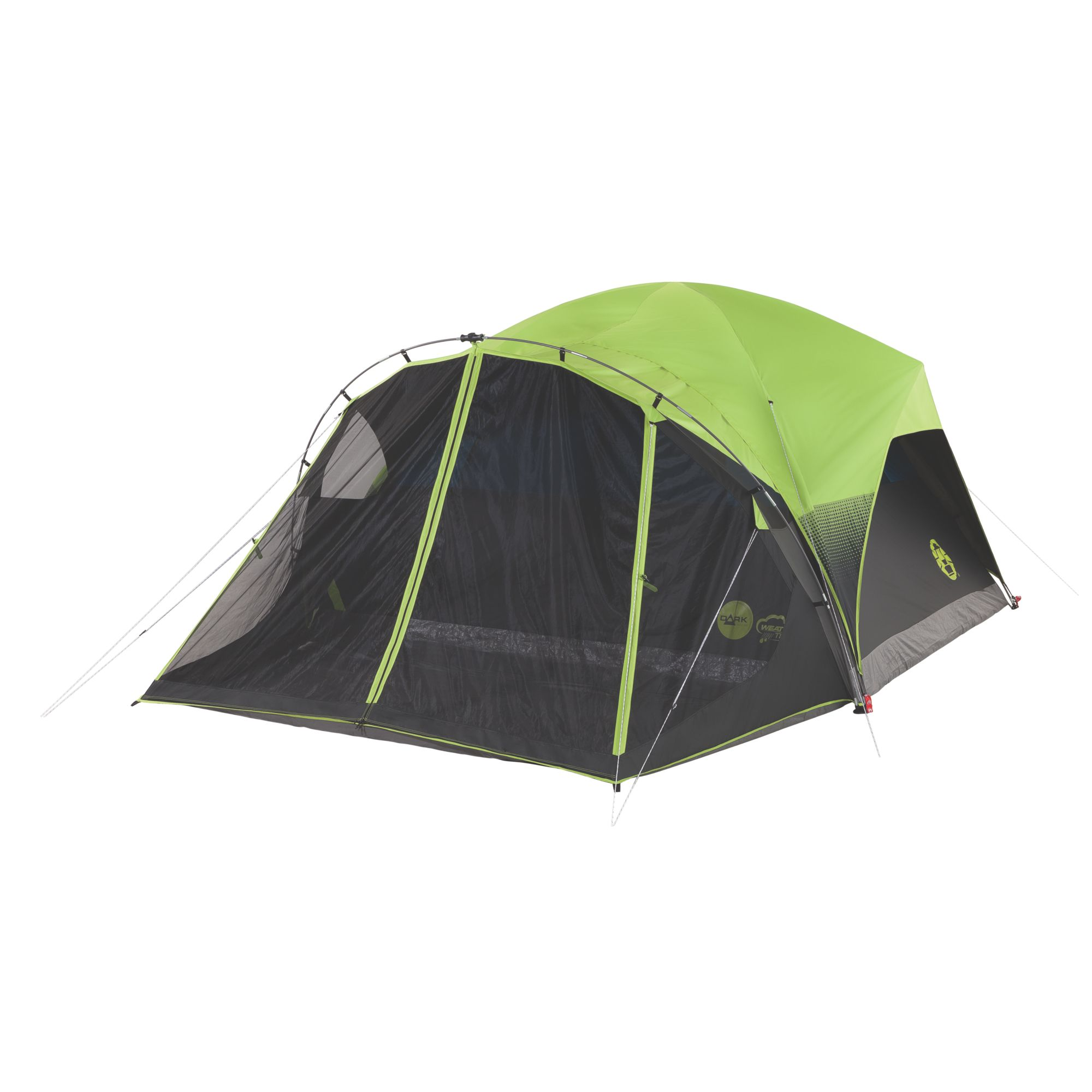 Carlsbad Fast Pitch 6 Person Dark Room Tent With Screen Room Coleman