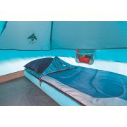 Single high air bed inside Instant dome tent with storage image number 3