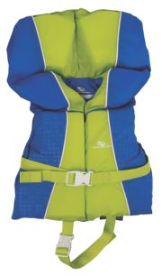 Infant Nylon Vest- Blue/Green