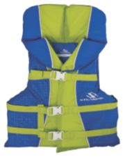 Youth Nylon Vest- Blue/Green