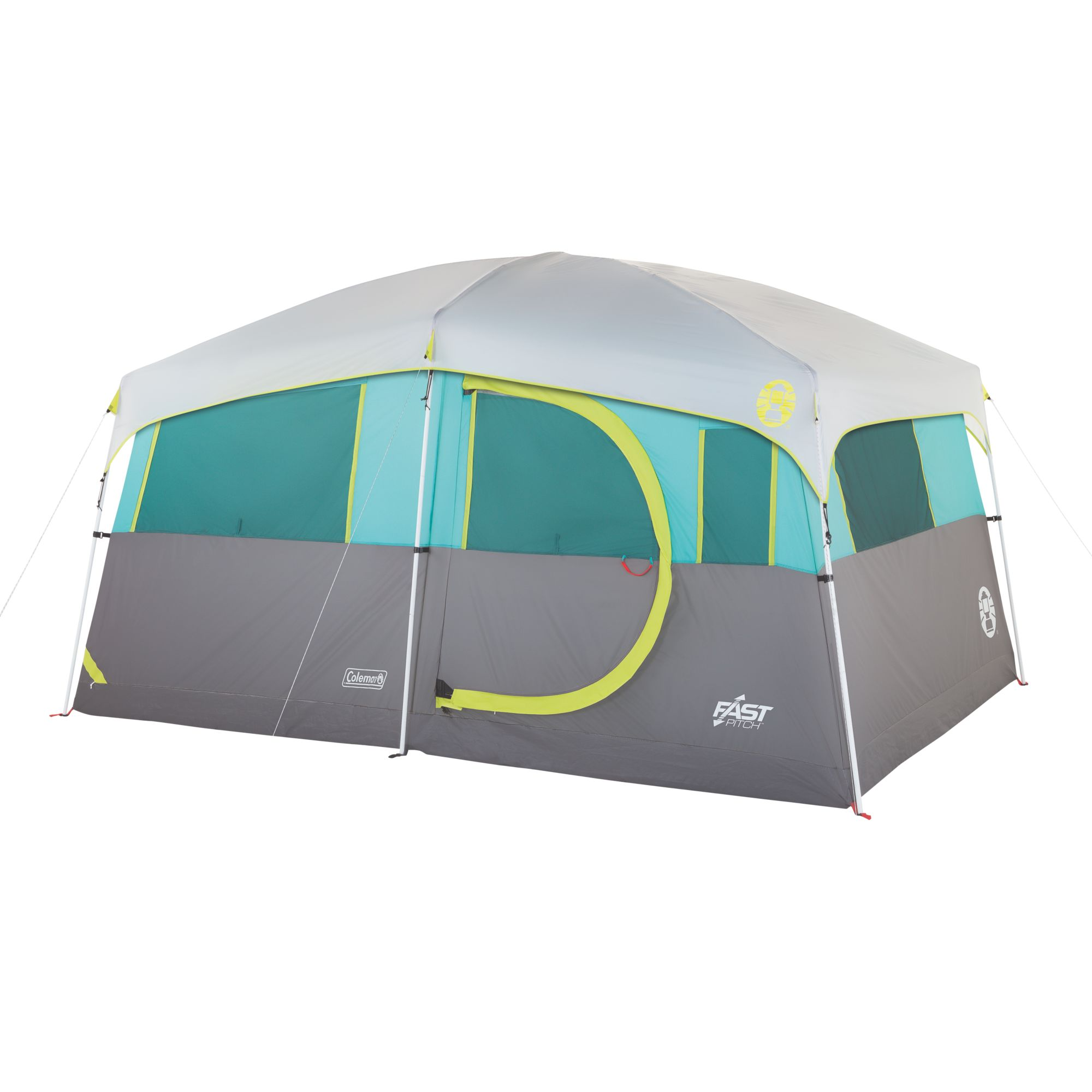 Tenaya Lake Lighted Fast Pitch 8 Person Cabin With Closet