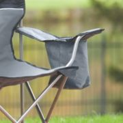 Folding chair with storage arm image number 3