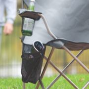 Folding chair with cup holder and storage image number 5