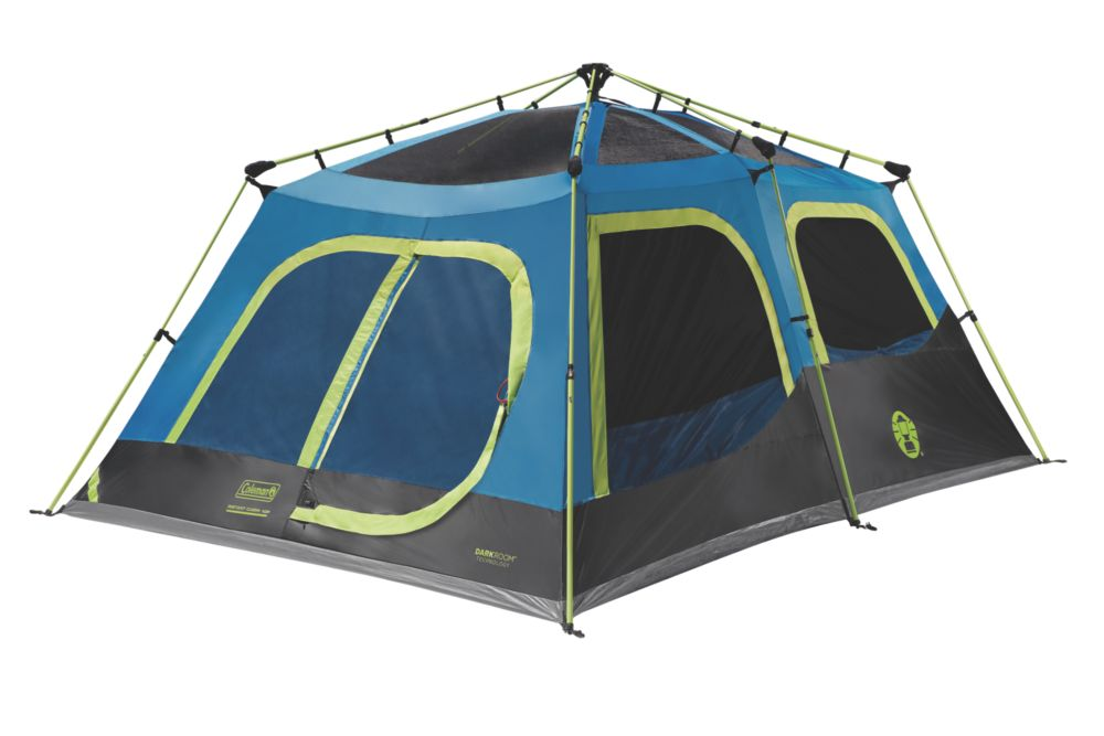 10-Person Dark Room Instant Cabin Tent with Rainfly