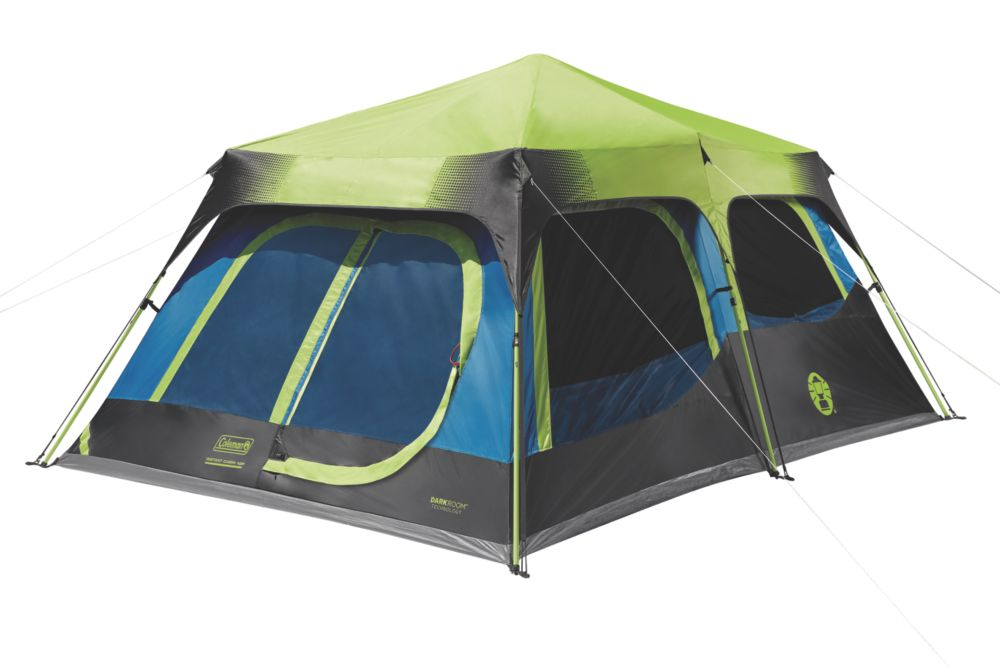 10 Person Dark Room Instant Cabin Tent With Rainfly Coleman
