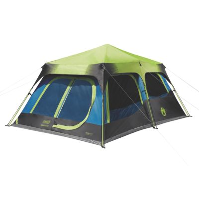4657a97e38a 10-Person Dark Room Instant Cabin Tent with Rainfly