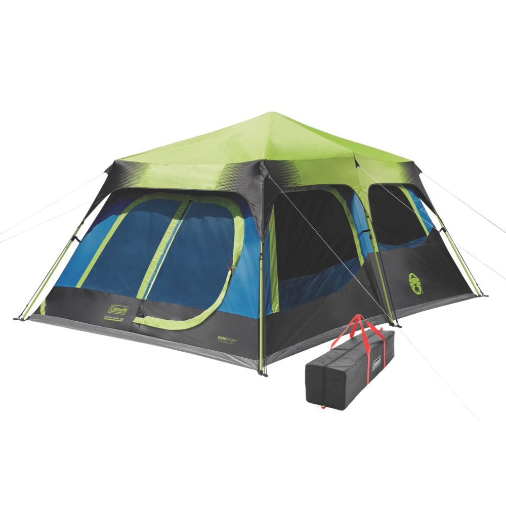 watch fc31f 6bca3 10-Person Dark Room Instant Cabin Tent with Rainfly | Coleman