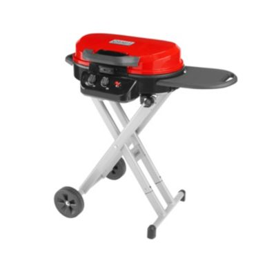 COLEMAN ROADTRIP 225 PORTABLE STAND-UP PROPANE GRILL, RED