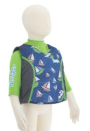 Puddle Jumper® Kids 2-in-1 Life Jacket and Rash Guard, Sailboats image 3
