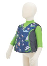 Puddle Jumper® Kids 2-in-1 Life Jacket and Rash Guard, Sailboats image 2