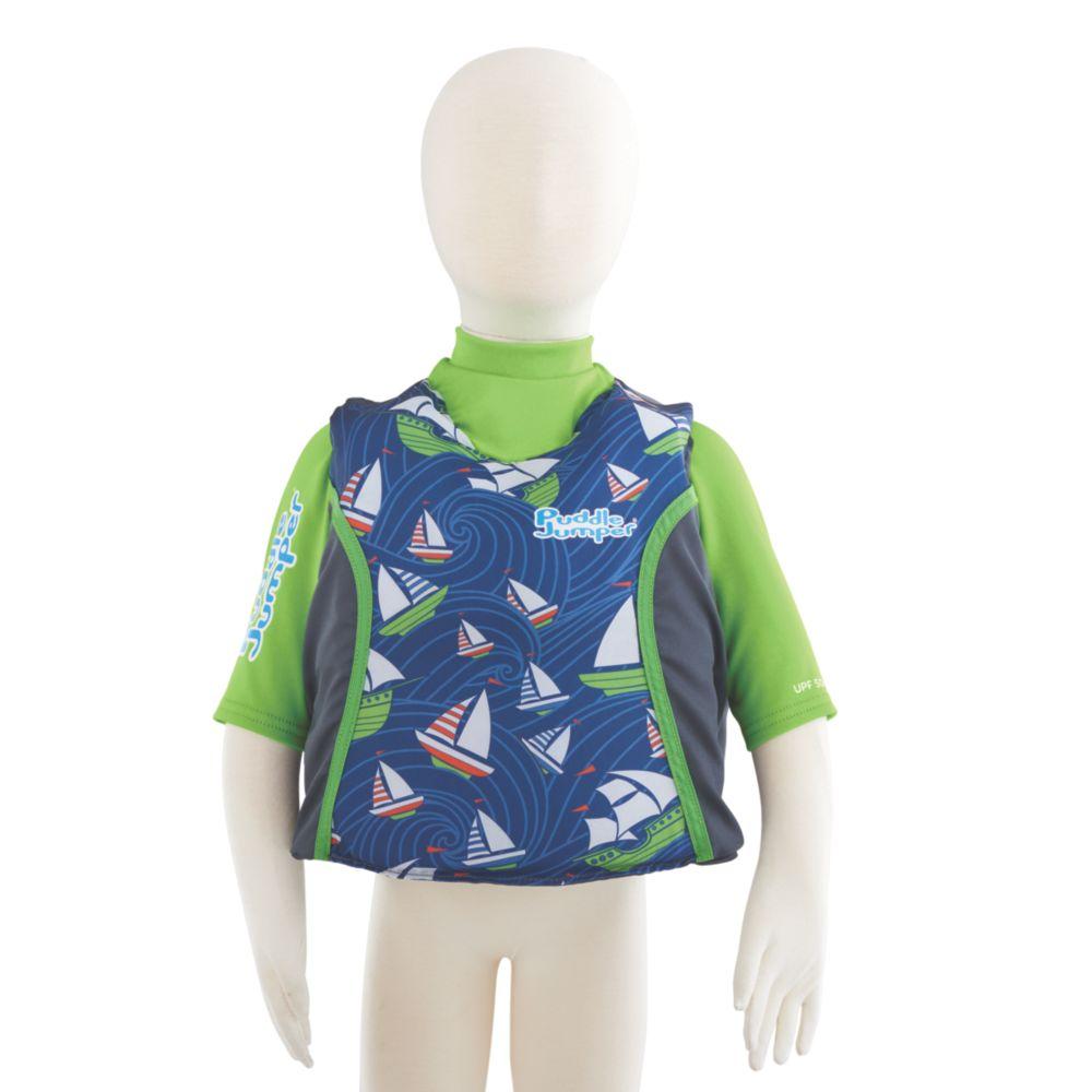 Puddle Jumper® Kids 2-in-1 Life Jacket and Rash Guard, Sailboats
